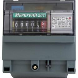 Счетчик Меркурий 201.6 10-80А/220В (1 тар.) МЕХ (DIN)