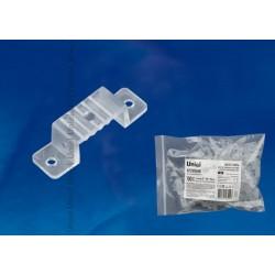 UCC-K14 CLEAR 100 POLYBAG Крепление для LED ленты 220В 14-16x7мм. прозрачный, 100 шт в упак | UL-00000867 | Uniel