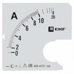 Шкала сменная для A721 10/5А-1,5 EKF PROxima | s-a721-10 | EKF