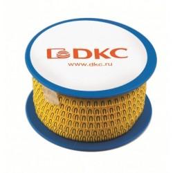 "Колечко маркировочное ""E"", 2.5-4мм. черное на желтом | AZO3EEBY | DKC"