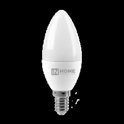 Лампа светодиодная LED-СВЕЧА-VC 4Вт 230В Е14 3000К 360Лм | 4690612030173 | IN HOME