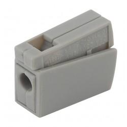 Строительно-монтажная клемма СМК NO-222-30 модель 111 проходная на 1 проводник 1.0-2.5мм2 (уп.4шт.)   Б0033403   ЭРА