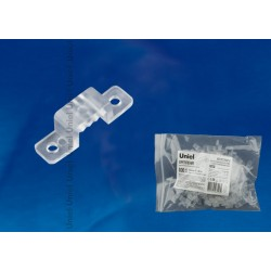UCC-K10 CLEAR 100 POLYBAG Крепление для LED ленты 220В 10x7мм. прозрачный, 100 шт в упак | UL-00000866 | Uniel