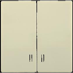 HB-2-1-БК Накладка 2 клав. с индик. BOLERO кремовый | ENB21-V-K33 | IEK
