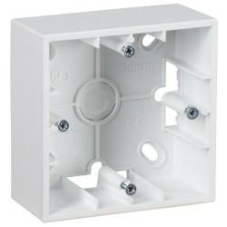 Simon 15 Белый Монтажная коробка для накладного монтажа, 1 пост | 1590751-030 | Simon