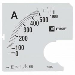 Шкала сменная для A961 500/5А-1,5 EKF PROxima | s-a961-500 | EKF