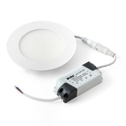 Светильник светодиодный ДВО 12Вт встраиваемый круг белый 5700К металл 123(107)мм (ультратонкий) | DSV-0726 | DEKOlabs