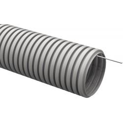 Труба гибкая гофрированная ПВХ 20мм с протяжкой (100м)   CTG20-20-K41-100I   IEK