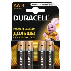 Элемент питания Duracell LR6-4BL BASIC | Б0026815 | Duracell