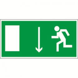 Пиктограмма (Пластина) Указатель двери эвакуационного выхода (лев.) BL-3015B.E10 | a14588 | Белый Свет