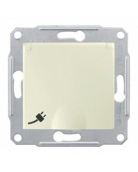 Sedna Бежевый Розетка 1-я с/з с защитными шторками с крышкой | SDN3100147 | Schneider Electric