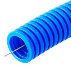 Труба гофрированная ПП безгалогенная (HF) синяя с/з д16 (100м/5500м уп/пал) | PR02.0047 | Строитель