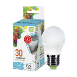 Лампа светодиодная LED-ШАР-standard 3.5Вт 230В Е27 4000К 320Лм   4690612002040   ASD
