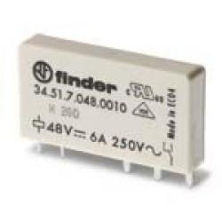 Ультратонкое электромеханическое реле; монтаж на печатную плату; 1CO 6A; контакты AgNi; катушка 24В DC (чувствит.) | 345170240010 | Finder