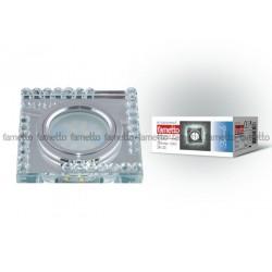 DLS-L101 GU5.3 CHROME/CLEAR Светильник декор.встр Luciole. квадр GU5.3 доп.LED подсвет. 3Вт Металл/стекл. Хром/прозр | 09998 | Fametto