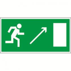 Пиктограмма (Наклейка) Направление к выходу направо вверх 270х135 для METEOR | NPU-2714.E05 | Белый Свет