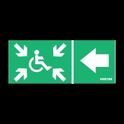 Пиктограмма (Наклейка) МГН движение / Налево / Безопасная Зона для аварийно-эвакуационного светильника IP20 | V5-EM01-60.001.034 | VARTON