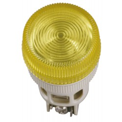 Лампа ENR-22 сигнальная d22мм желтый неон/240В цилиндр   BLS40-ENR-K05   IEK