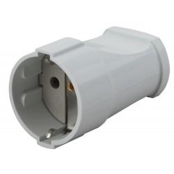 Rx2-W ЭРА Розетка кабельная с/з прямая 16A белая (24/384/4608) | Б0039682 | ЭРА