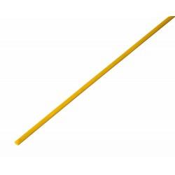 Термоусадочная трубка 2,0/1,0 мм, желтая, упаковка 50 шт. по 1 м   20-2002   REXANT