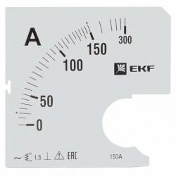 Шкала сменная для A961 150/5А-1,5 EKF PROxima | s-a961-150 | EKF