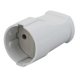 Rx1-W ЭРА Розетка кабельная б/з прямая 10A белая (24/384/4608) | Б0039680 | ЭРА