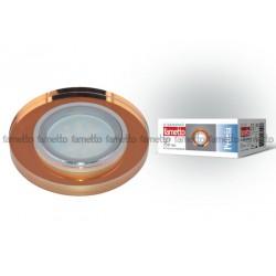 "DLS-P106 GU5.3 CHROME/BRONZE Светильник декор.встр ""Peonia"", GU5.3. арматура металл, хром. Отделка стекл, бронза. | 09993 | Fametto"