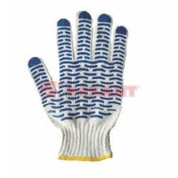 Перчатки х/б с покрытием ПВХ («Волна») 5 нитей, 54-56 г | 09-0201 | SDS