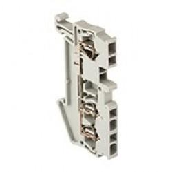 Колодка клеммная самозажимная JXB-ST-2.5 31А 3 вывода серая EKF PROxima | plc-jxb-st-2.5-3 | EKF