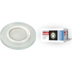 DLS-L112 GU5.3 CHROME/MATT CLEAR Светильник декор.встр Luciole, GU5.3 доп.LED подсвет. 3Вт Металл/стекл. Хром/мат+прозр | UL-00000365 | Fametto