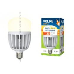 LED-M80-25W/WW/E27/FR/S Лампа LED мат., корпус термопластик, 3000К Серия Simple | 10808 | Volpe
