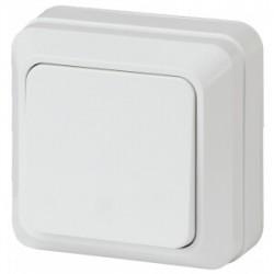 2-101-01 Intro Выключатель, 10А-250В, IP20, ОУ, Quadro, белый | Б0027631 | Intro