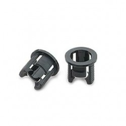 H51 Держатель 5мм (чёрный PP, с зацепками) | 004786 | Arlight