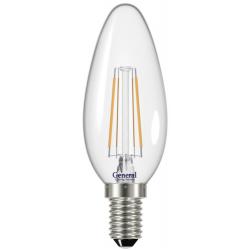 Лампа светодиодная LED 6Вт Е14 220В 2700К GLDEN-CS-6-230-E14-2700 1/10/100 filament | 646100 | General