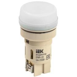 Лампа ENR-22 сигнальная d22мм белый неон/240В цилиндр   BLS40-ENR-K01   IEK