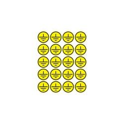 Наклейки знаки электробезопасности «Заземление» d - 20 мм (20шт на листе) | 56-0010 | REXANT