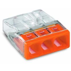 Клемма 3-проводная 0.5-2.5мм2 одножильный оранжевый (уп/100шт) | 2273-203 | WAGO