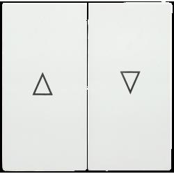 HB-1-5-ББ Накладка 2 клав. для жалюзи BOLERO белый | ENB15-V-K01 | IEK