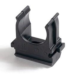 Крепёж-клипса d трубы 16 черная (100шт/уп) | 02716ч | Промрукав