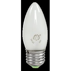 Лампа накаливания СВЕЧА B35 60Вт 230В Е27 матов 630Лм   4607177995076   ASD