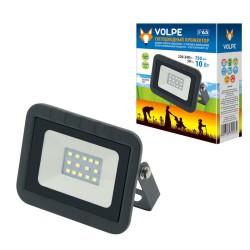 ULF-Q511 10W/DW IP65 220-240В BLACK Прожектор LED. 10вт, 6500К, черный | UL-00000235 | Volpe