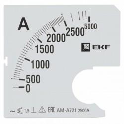 Шкала сменная для A721 2500/5А-1,5 EKF PROxima | s-a721-2500 | EKF