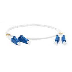 Патч-корд FC-D2-9A1-LC/UR-LC/UR-H-1M-LSZH-WH волоконно-оптический (шнур) SM 9/125 (G.657), LC/UPC-LC/UPC, 2.0 мм, duplex, LSZH, 1м | 39300 | Hyperline