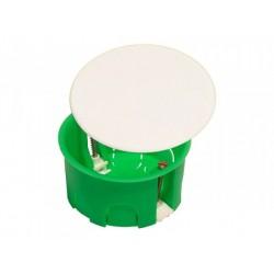 Коробка распределительная С/У 80х45 пластиковые лапки с крышкой (для полых стен) | КР1202 | HEGEL