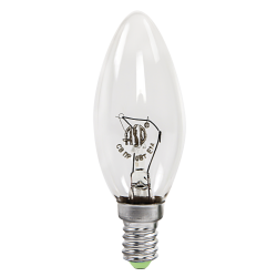 Лампа накаливания СВЕЧА B35 60Вт 230В Е14 прозр 630Лм   4607177995045   ASD