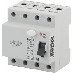 УЗО эл-механическое Pro NO-902-67 ВД1-63 3P+N 16А 300мА | Б0031906 | ЭРА