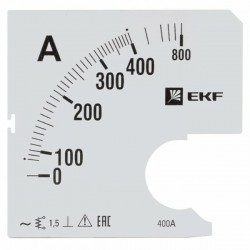 Шкала сменная для A961 400/5А-1,5 EKF PROxima | s-a961-400 | EKF
