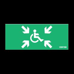 Пиктограмма (Наклейка) МГН / Безопасная Зона для аварийно-эвакуационного светильника IP20 | V5-EM01-60.001.032 | VARTON