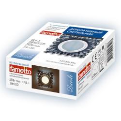 DLS-L131 GU5.3 CHROME/BLACK Светильник декор.встр Luciole, GU5.3 доп.LED подсвет. 3Вт Металл/стекл. Хром/черн. | UL-00002756 | Fametto