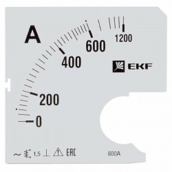 Шкала сменная для A961 600/5А-1,5 EKF PROxima | s-a961-600 | EKF